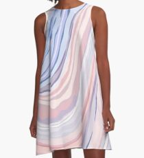 Pastel Marble A-Line Dress