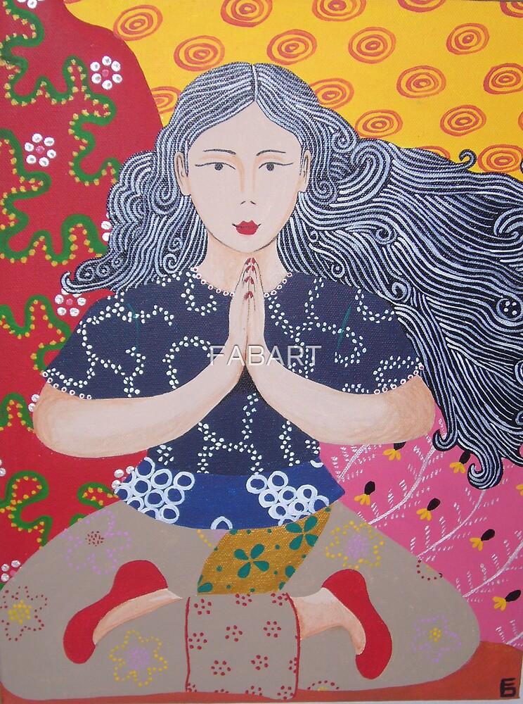 Yoga Girl #4 by FABART