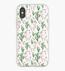Funny Llama Pattern iPhone Case
