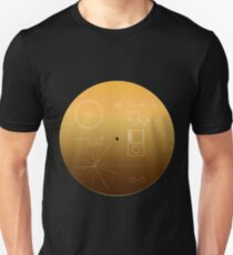 Voyager Goldene Schallplatte Slim Fit T-Shirt