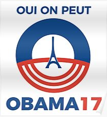 Obama for president (2017 french presidential election) Poster