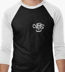 Very Big Smile (Small-Black) Men's Baseball ¾ T-Shirt