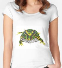Pac Man Frog Women's Fitted Scoop T-Shirt