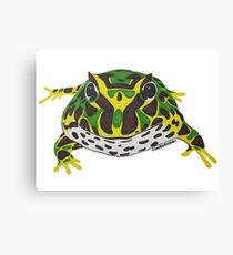 Pac Man Frog Canvas Print