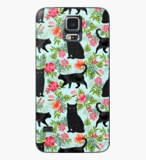 Black cat hawaiian cat breeds cat lover pattern art print cat lady must have by PetFriendly Case/Skin for Samsung Galaxy