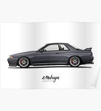 Nissan Skyline R32 GT-R Poster