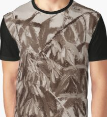 Ash-tree, monochrome version, floral sketch Graphic T-Shirt