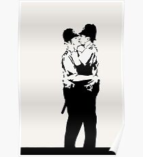 Kissing Coppers Poster