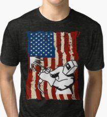 American Welder Flag T-shirts Tri-blend T-Shirt