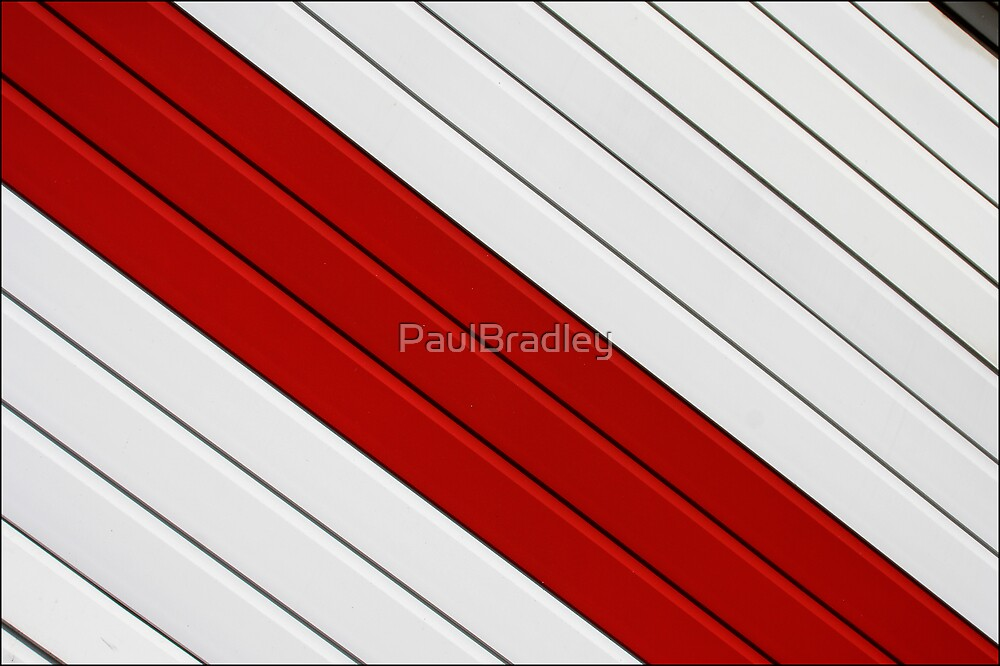 Abstract - red, white, grey by PaulBradley