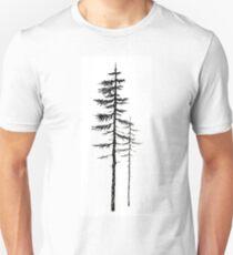 Pine trees - Black ink Unisex T-Shirt