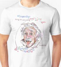 Camiseta unisex tasa de Albert Einstein Imagen - La locura