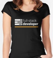 Full Stack Developer Women's Fitted Scoop T-Shirt