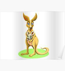 Cute kangaroos Poster
