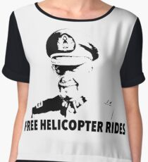 Free Helicopter Rides Chiffon Top