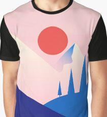 Flat Landscape Graphic T-Shirt