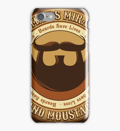 Manly Beard Wax iPhone Case/Skin