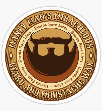 Manly Beard Wax Sticker