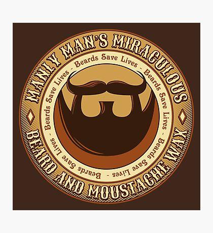 Manly Beard Wax Photographic Print