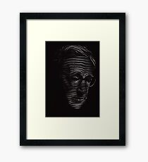 Woody Allen Portrait Framed Print