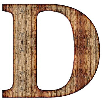 Wooden D Letter by connor95