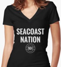 Seacoast Nation New Hampshire Women's Fitted V-Neck T-Shirt