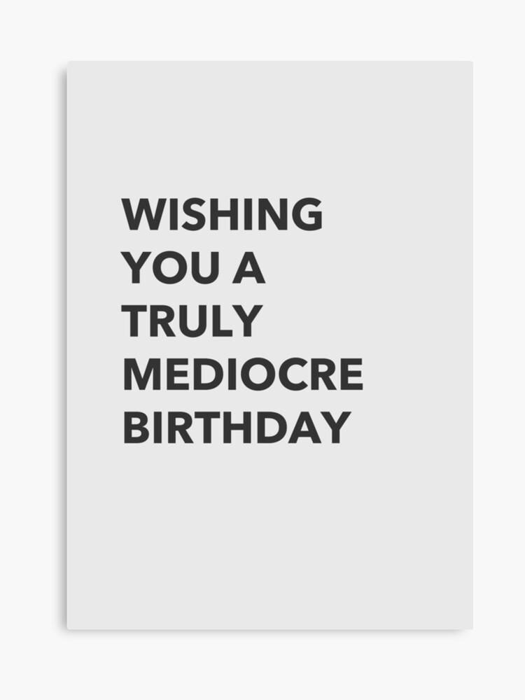 Rude Birthday Card Canvas Print