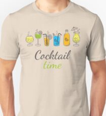 Cocktail Time Drink Text Funny Sentence Unisex T-Shirt
