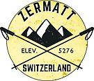 ZERMATT SWITZERLAND Mountain Skiing Ski Snowboard Snowboarding 5 by MyHandmadeSigns