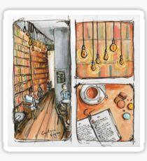 Bookstore cafe Sticker