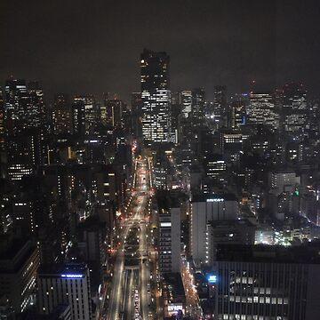 View of Tokyo at Night by GeekyCatDesign