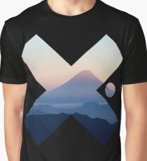 Cool Modern Volcano Landscape X Fashion Photography Clothing Design Graphic T-Shirt