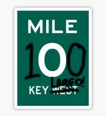 KEY LARGO:  KEY WEST GRAFITTI MILE ZERO Sticker