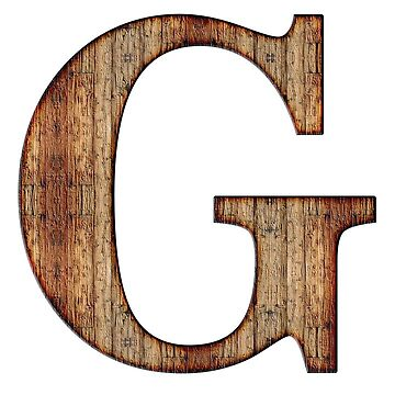 Wooden G Letter by connor95