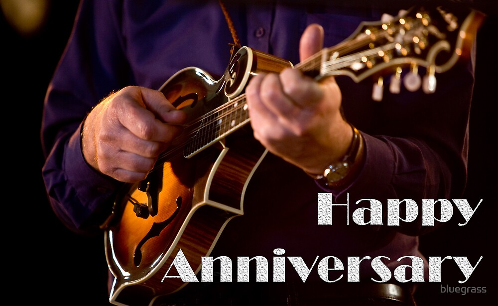 F5 Mandolin Anniversary Card 0001 by bluegrass