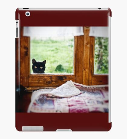 """""""Wondering what's SHE doing IN there... Better investigate"""" iPad Case/Skin"""