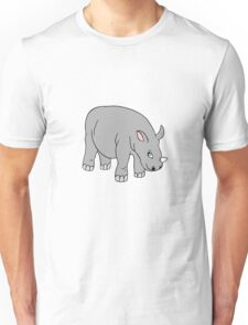 Vector illustration of baby rhinoceros. Isolated cartoon animal Unisex T-Shirt