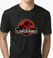 Billy and the Cloneasaurus Simpsons Tri-blend T-Shirt