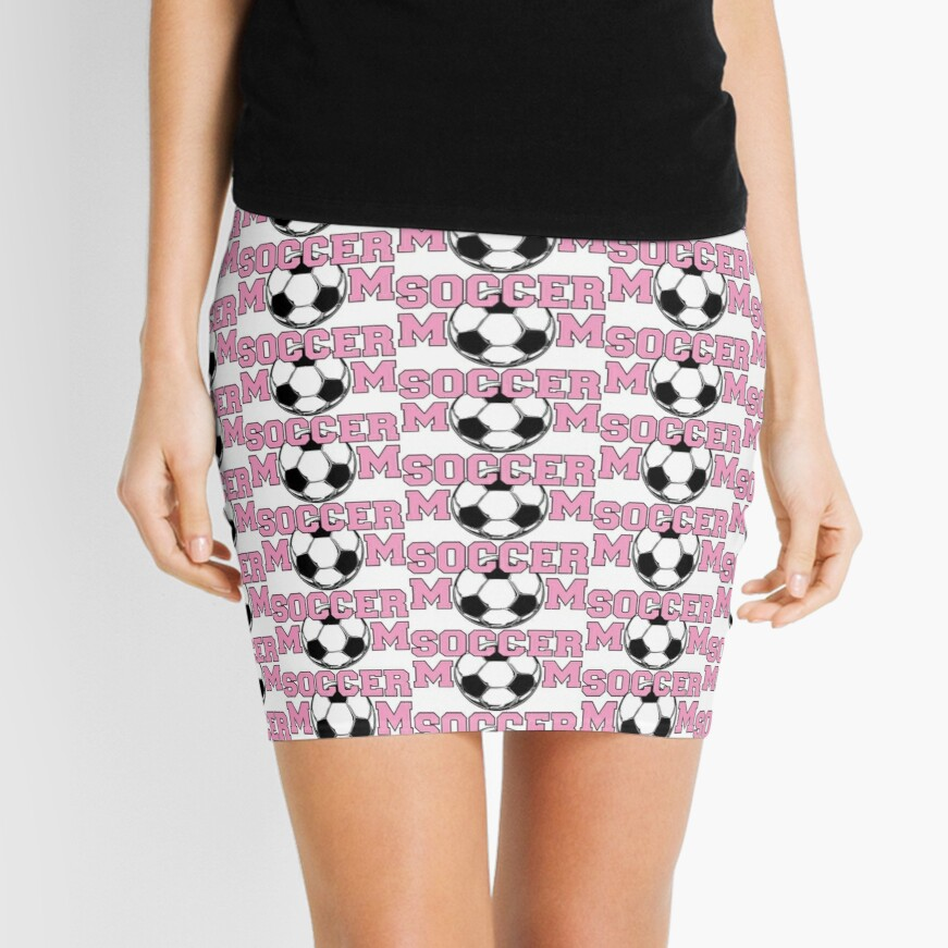Soccer Mom Pink Mini Skirt Front