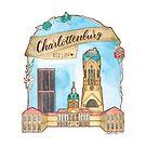 Berlin Charlottenburg Aquarell Illustration von farbcafe