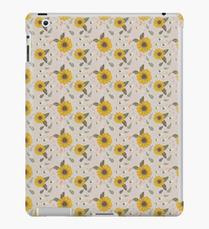 Sunflowers and daisies iPad Case/Skin