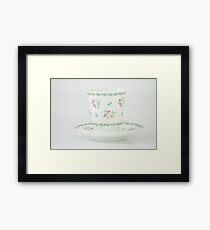 beautiful coffee cup and saucer bone china Framed Print