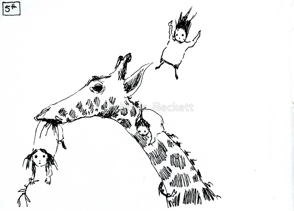 Giraffe Jump by Nicholas  Beckett
