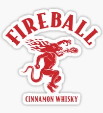 Fireball Cinnamon Whiskey Logo Sticker