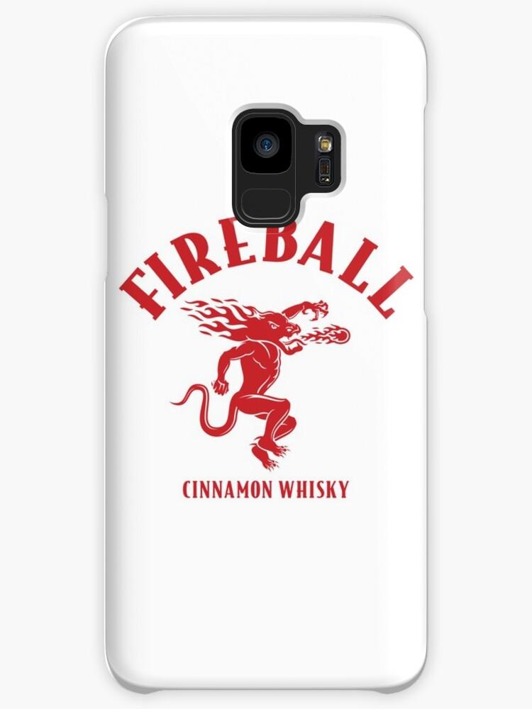 Fireball Cinnamon Whiskey Logo Cases Skins For Samsung Galaxy By