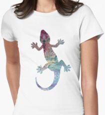 The Weird Gecko  Womens Fitted T-Shirt