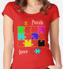 Puzzle Lover Women's Fitted Scoop T-Shirt