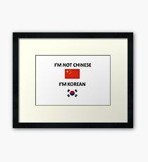 I'M KOREAN Framed Print