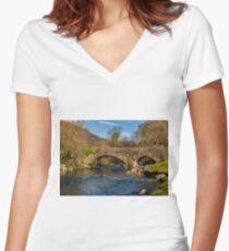 Packhorse Bridge River Duddon Women's Fitted V-Neck T-Shirt