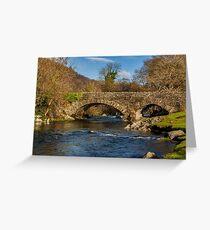 Packhorse Bridge River Duddon Greeting Card